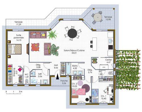 17 best images about plans de maisons on pinterest house for Plan de maison a construire
