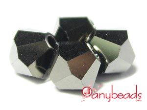 Jet Nut 2X - Swarovski Crystal Elements 5328 Xilion Bead Bicones 5mm  #JetNut #Swarovski #crystal #crystalbeads #5328 #jewelrysupplies #anybeads