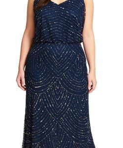 Art Deco Beaded Blouson Gown For Women By Asian Fashion Store