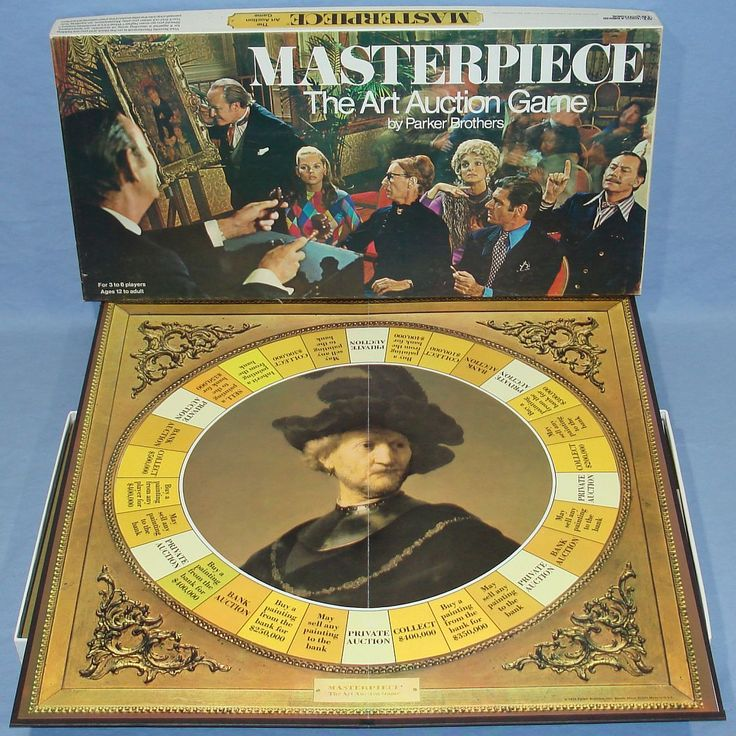 i used to love this game. Parker Brothers Masterpiece Auction Artwork Board Game