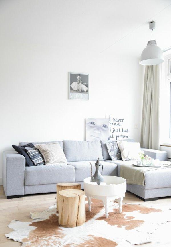 Baumstamm Wohnzimmer Neu Gestalten Ideen Hocker