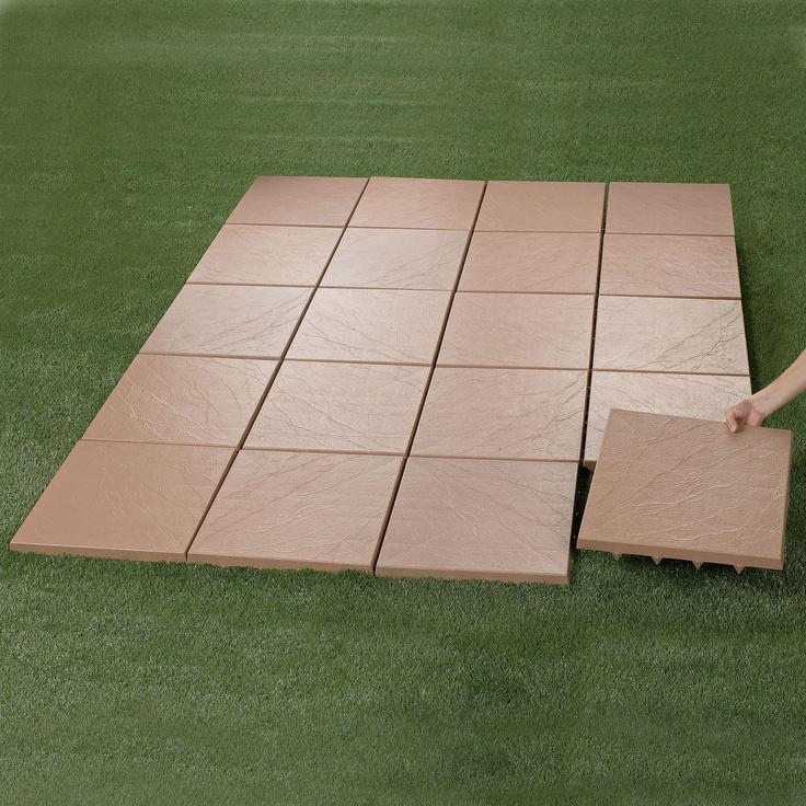 Quick, easy patio!: Tile Images, Outdoor Ideas, Diy Backyard Ideas, Patio Tiles, Outdoor Living Spaces, Outdoor Parties, Outdoor Decor, Diy Patio Tile, House