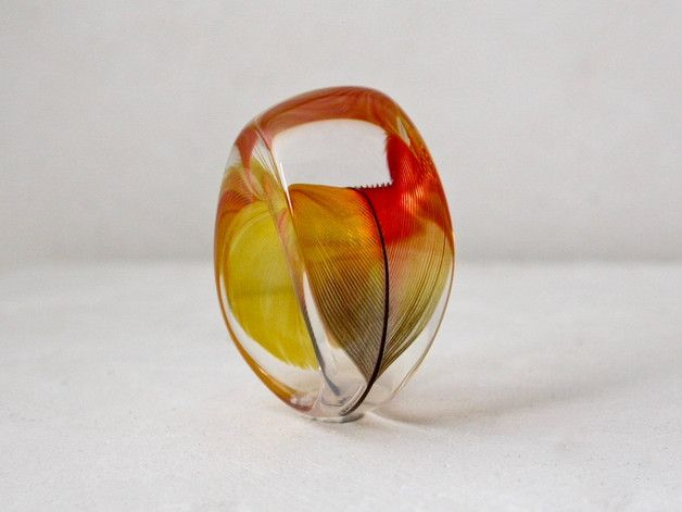 Resin feather ring