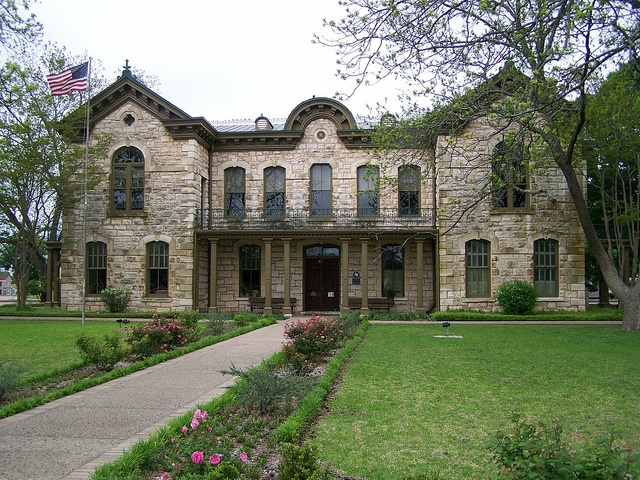 Old Gillespie County Court House - Fredericksburg, Texas---will always be special....where we had our wedding photos done! :)