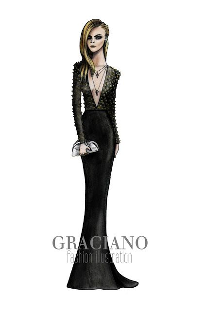 GRACIANO fashion illustration: Punk| Be Inspirational ❥|Mz. Manerz: Being well dressed is a beautiful form of confidence, happiness & politeness