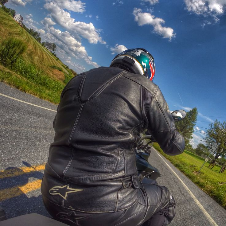 Twisting the throttle on the Triumph Tiger.