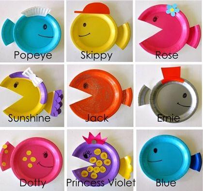 Manualidades con niños... Peces de colores