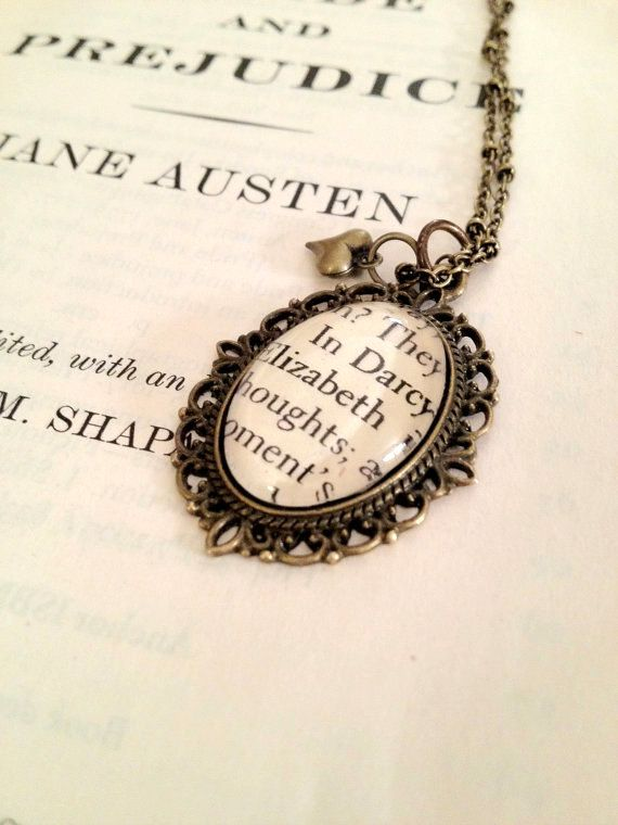 Pride and Prejudice Jane Austen Elizabeth by AuthoredAdornments, $26.00