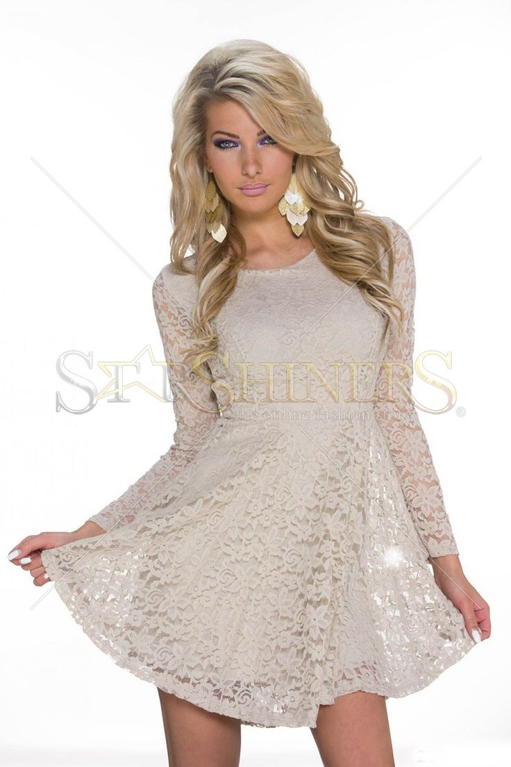 Vibrating Offer Cream Dress