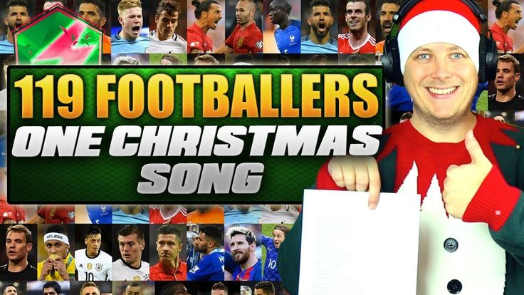 119 FOOTBALLERS 1 CHRISTMAS SONG!!! 😂  BAND AID DO THEY KNOW IT'S CHRIST...