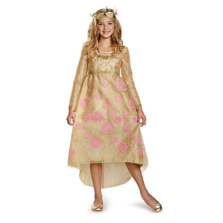 Disney Maleficent Aurora Deluxe Coronation Gown - Kids, Beig/Green (Beig/Khaki)