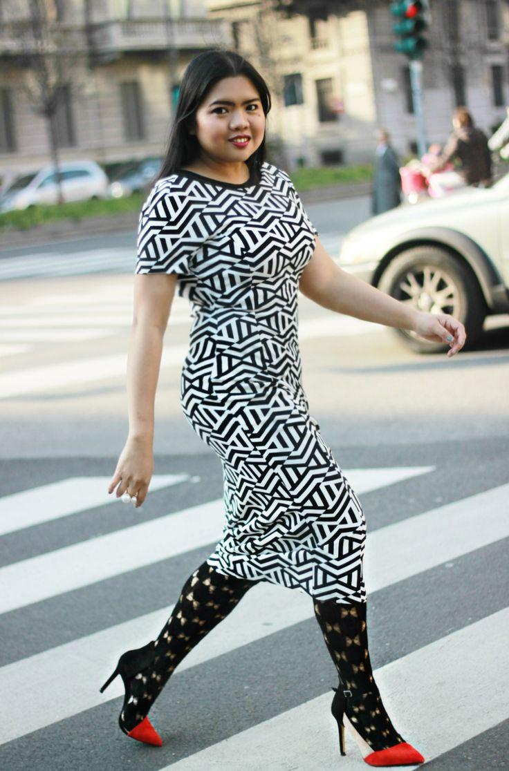 vestito primaverile con collant sarah borghi hosiery