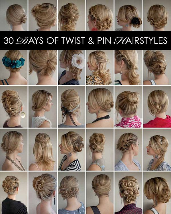 30 Days of Twist and Pin Hairstyles
