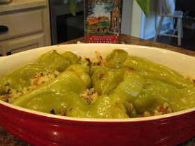 The Italian Next Door: Stuffed Cubanelle Peppers and Radicchio Salad