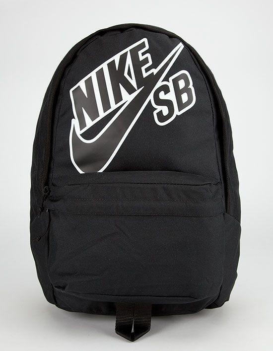 Nike SB Piedmont backpack. Nike SB swoosh logo screened on front. Zip front pocket features organizer pockets. Zip main…