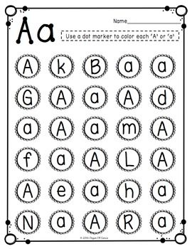 Uppercase & Lowercase Letter Recognition Packet