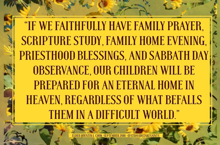 Sept 2016, Why is Parenthood a sacred duty? Elder Quentin L. Cook teaches us in…