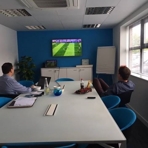Euro 2016 - 2 of our team members watching England V Wales game!