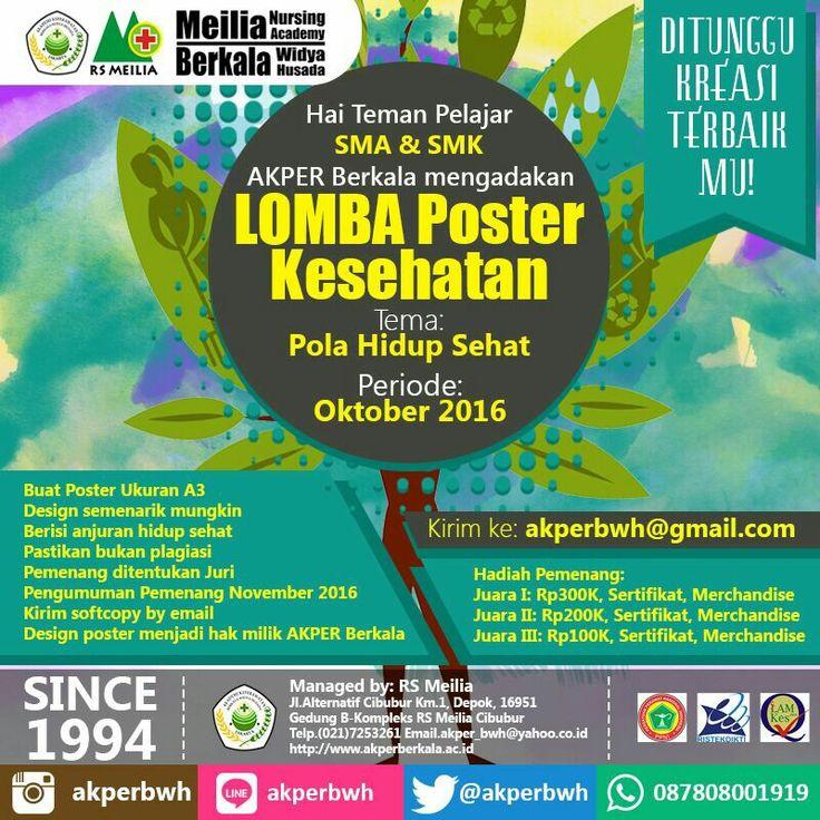Lomba Poster SMA/SMK ##karir #perawat #akademi #keperawatan #akperberkala #akperbwh #akper #penerimaan #pendaftaran #kampus #kuliah #mahasiswa #perguruantinggi #pts #jalurmandiri #rsmeilia #cibubur #depok #cileungsi #bekasi #bogor #tangerang #jakarta #indonesia