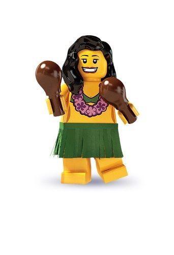 LEGO Series 3 THE HULA DANCER Minifigure #14 8803 SEALED ~RARE ~ NEW HAWAIIAN #LEGO