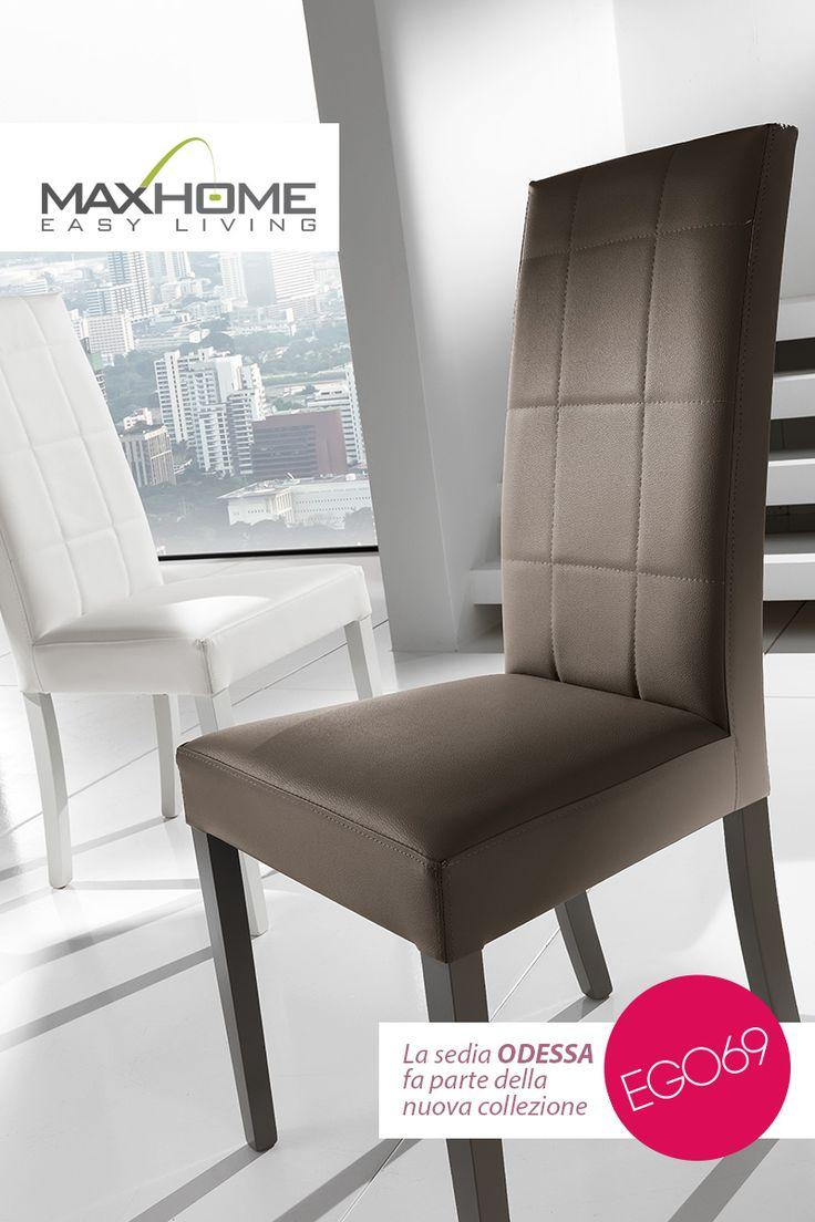 Elegante seduta dallo schienale trapuntato proposta in due colori di ecopelle. Importante ma accessibile, ODESSA è facilmente preferibile per la sua versatilità.