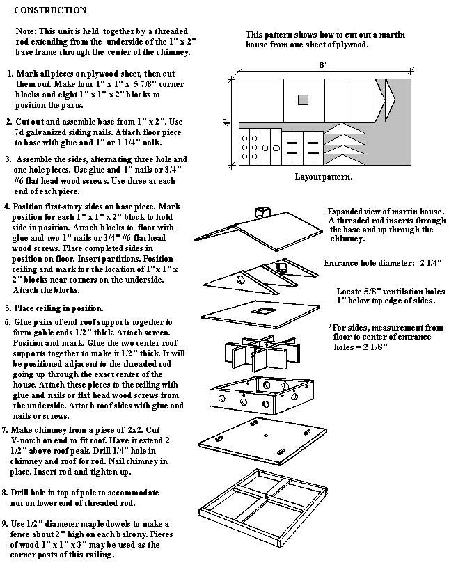 41 best purple martin bird house plans images on pinterest | bird