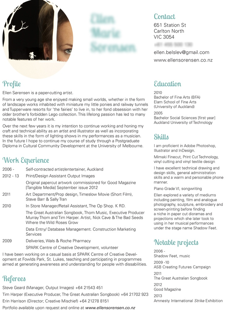 47 best For the Artist images on Pinterest Business tips, Snood - sample artist resume