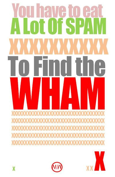 SPAM TO WHAM Art Print