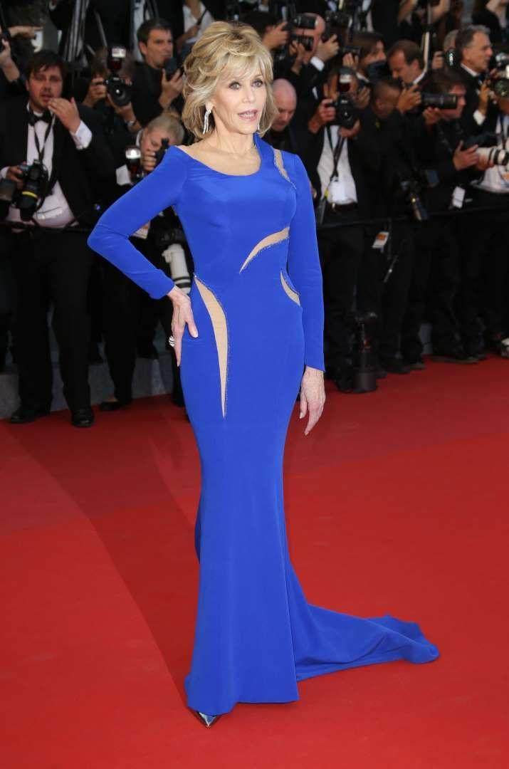 Jane fonda blue dress