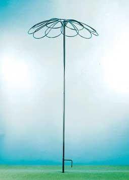 Tuteur parapluie 9 pétales pour rosier pleureur, tuteurs pour rosiers et plantes grimpantes Meilland Richardier
