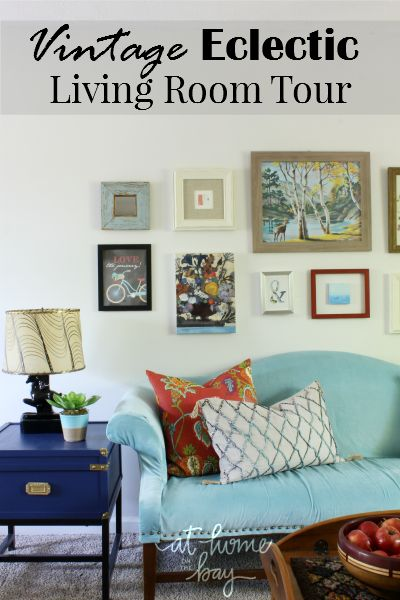 Be inspired by what you can create with thrift store and for Pictures of eclectic living rooms