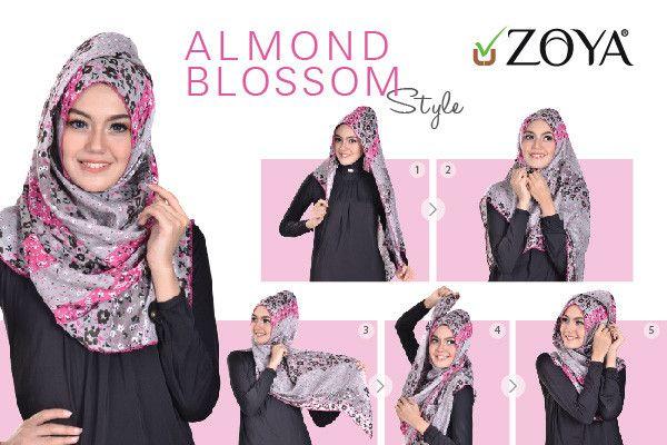 Hijab Tutorial Almond Blossom Style | Zoya - Lebih Pas Untuk Cantikmu