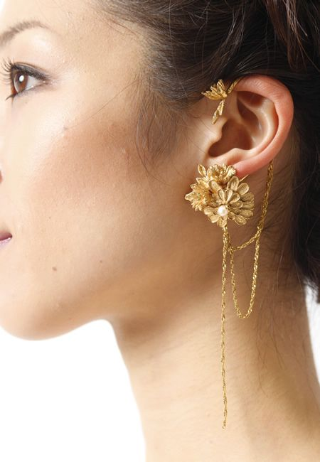 Yukie deuxpoints chain ear cuff ユキエドゥポワン チェーンフリンジイヤーカフ ...