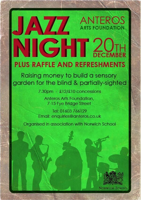 Jazz night at Anteros Arts, Norwich Cathedral Quarter