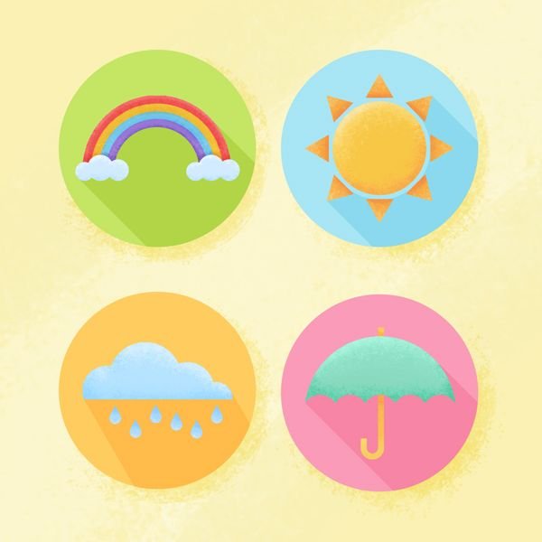 Create weather flat textured icons in adobe photoshop