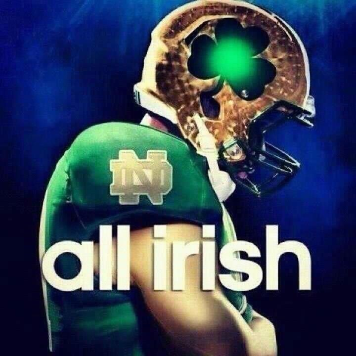 Notre Dame Football. :D my boys whoooo 5-0 baby Keep fighting IRISH PRIDE!