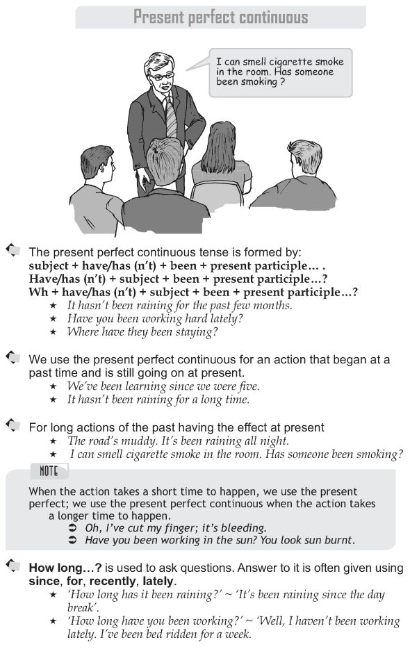Grade 9 Grammar Lesson 9 Present perfect continuous