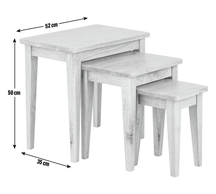 Buy Collection Nest of 3 Tables - Solid Oak at Argos.co.uk - Your Online Shop for Coffee tables, side tables and nest of tables, Living room furniture, Home and garden.