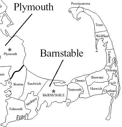barnstable, ma   Map of Barnstable County Massachusetts
