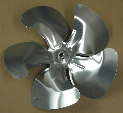 "A65145 Metal Fan Blade 14"""" Diameter 5 Blades 1/2"""" Bore Hub CW 32 Degree Prop"