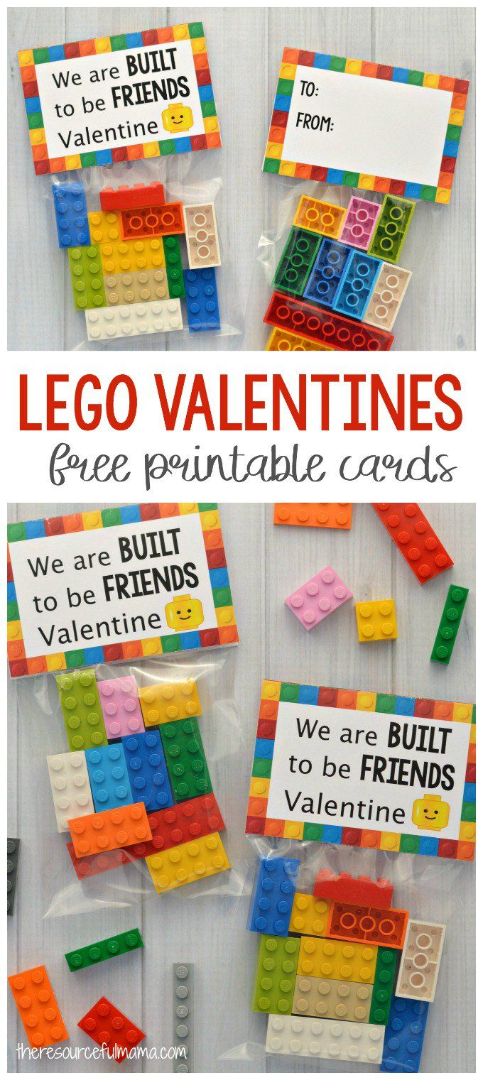 Your Lego loving kids are going to love giving their friends and classmates these Lego Valentine Cards and little sack of Legos for Valentine's Day. #valentinesday #legos