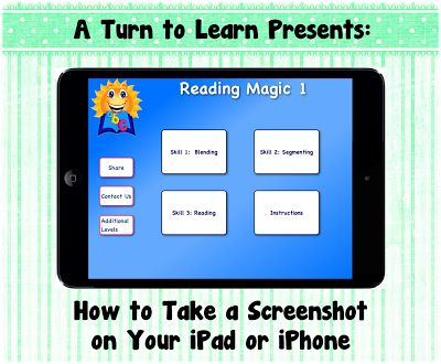 A Turn to Learn: How to Take a Screenshot on Your iPad/iPhone!