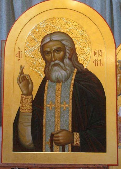 St. Seraphim of Sarov More icons: http://whispersofanimmortalist.blogspot.com/2015/04/icons-of-venerables-i.html