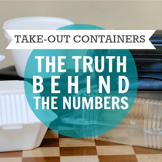 Take-Out Containers: The Truth Behind The Numbers » Daily Mom