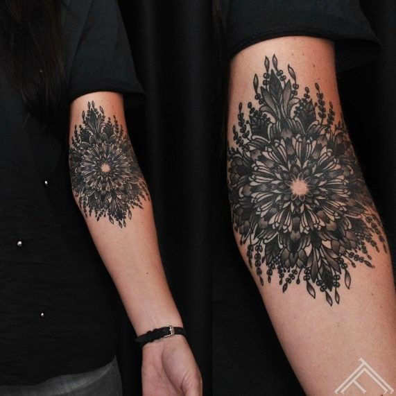 Martinssilins Mandala Tattoo Tattoofrequency Riga Inner Elbow