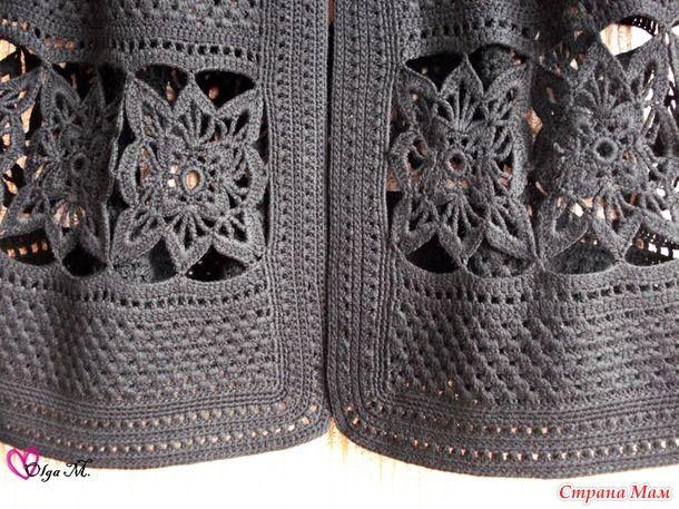 Crochet Cardigan + Diagrams
