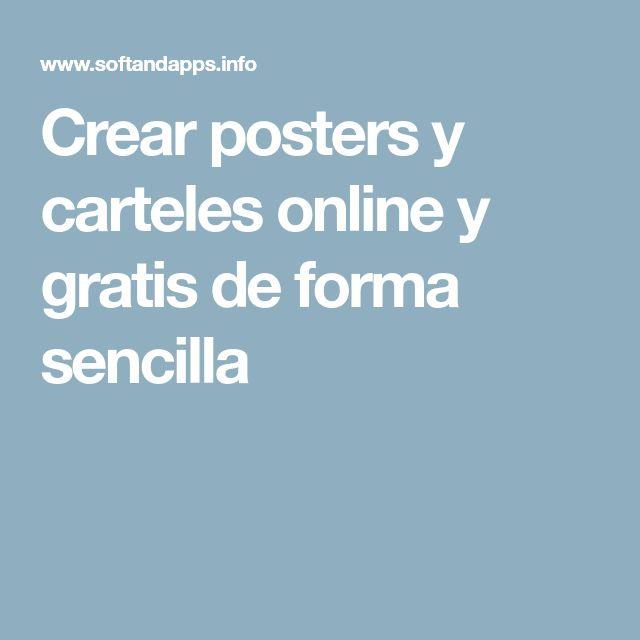 Crear posters y carteles online y gratis de forma sencilla