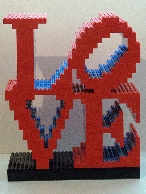 "Robert Indiana ""LOVE"" Sculpture  by  Bill Ward's Brickpile"