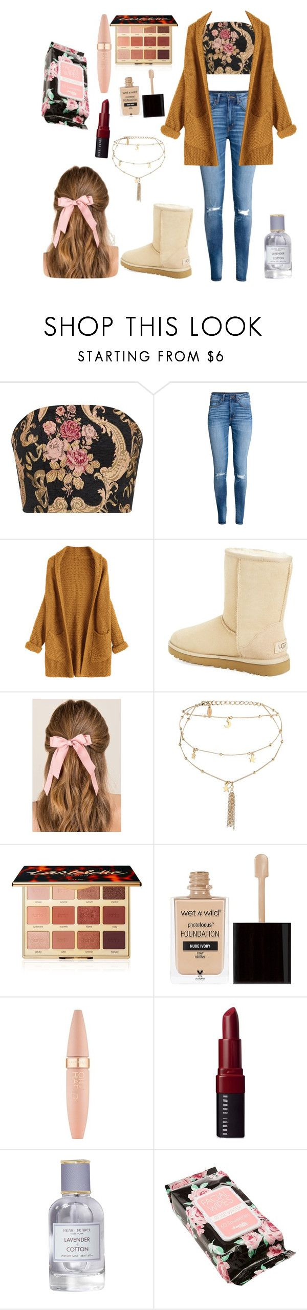 """""""reasonable-ish price"""" by fall-leaves-lily ❤ liked on Polyvore featuring H&M, UGG, Francesca's, Ettika, tarte, Wet n Wild, Maybelline, Bobbi Brown Cosmetics, Henri Bendel and Charlotte Russe"""