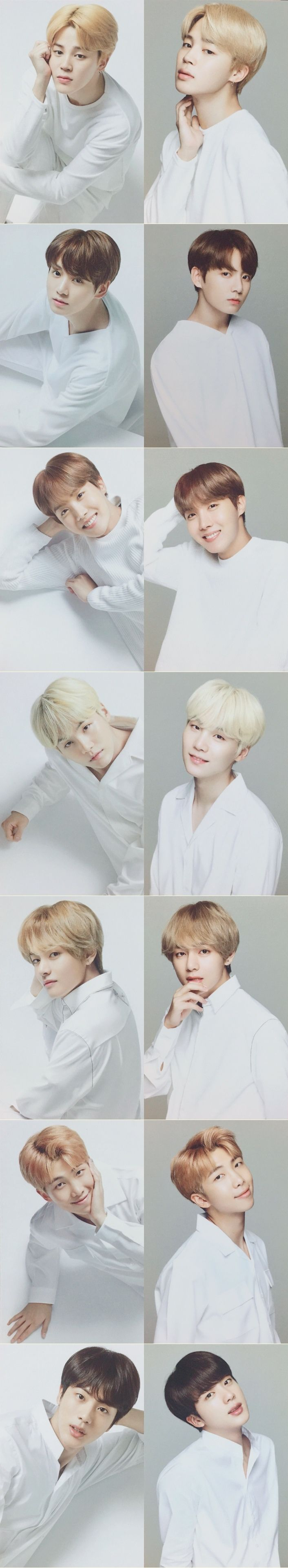I didn't want to post it because I don't like how Jimin's and Tae's hair look in the 1st pics on the left but oh well